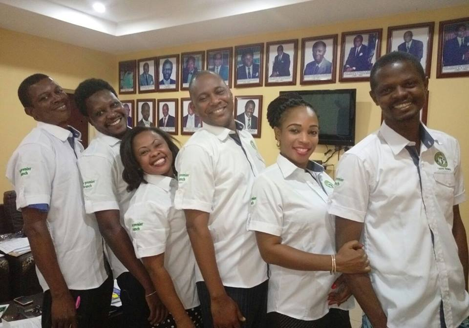 Members of the NBA Lagos exco wearing the branded Shirts
