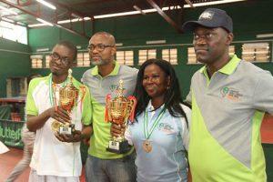 Kabir Adeleke(2016 Champion,Lawyers Table Tennis Open(Mfon Usoro cup,Anthony Atata,Titilayo Osagie(Female champ,Munirudeen Liade.