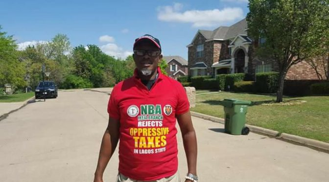 Viral: A Nigerian Lawyer protesting in Texas catches the world's attention