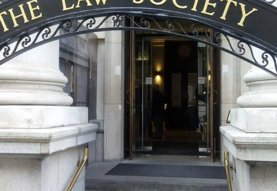 Nene Amagatcher, Anthony Atata received at the Law Society of England