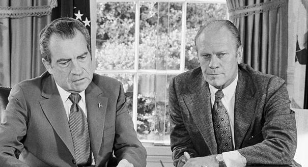 History-Today in 1974,President  Ford pardons Nixon
