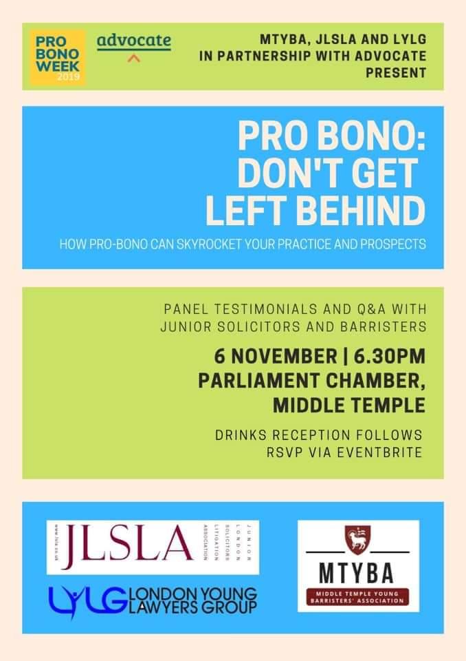 London Young Lawyers Group- Pro bono week