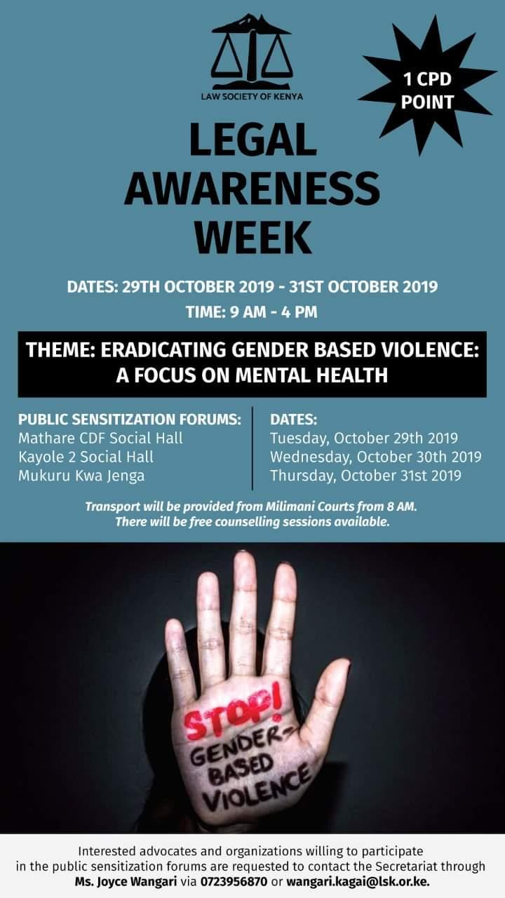 Law Society of Kenya- Legal awareness week