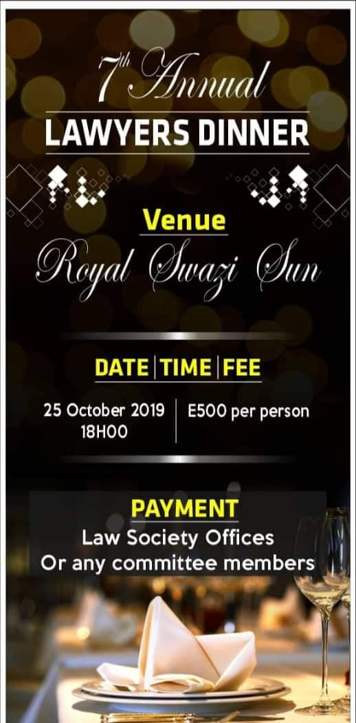 Law Society of Swaziland-Annual Law Dinner