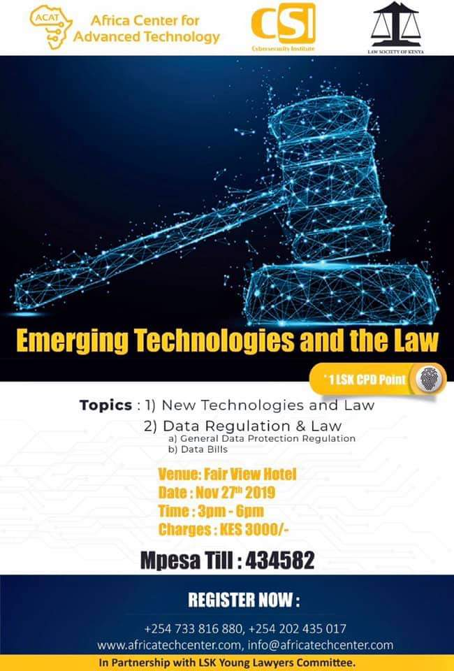 Kenya- Emerging Technologies and the Law