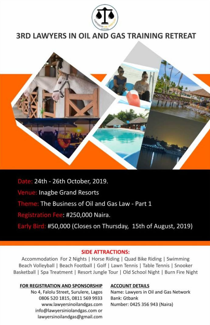 3rd Lawyers in Oil and Gas retreat