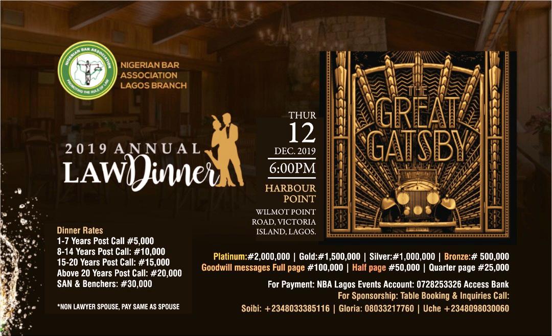 Great Gatsby: NBA Lagos Annual Dinner