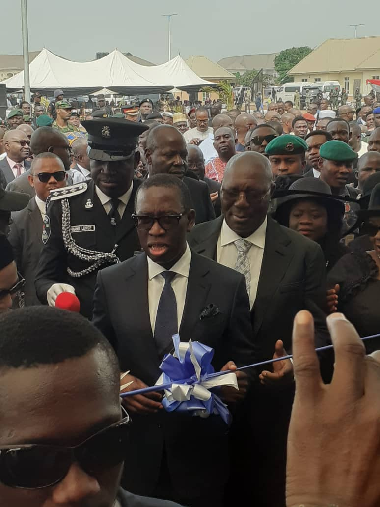 Pictures of Ajibade and friends at the opening of Court of Appeal, Asaba Division