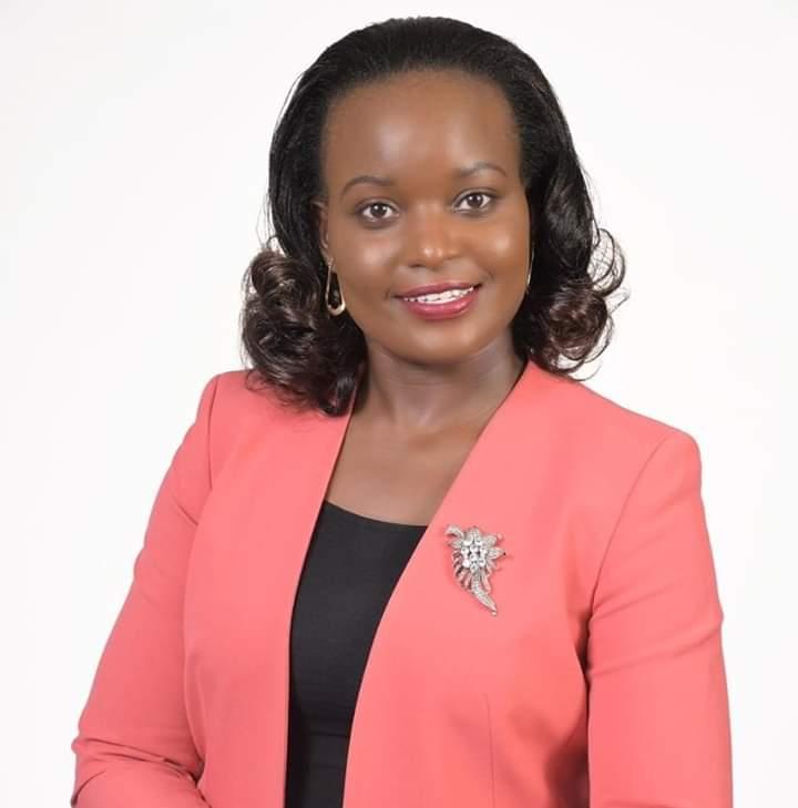 Harriette Chiggai congratulates Nelson Havi on his emergence as LSK president