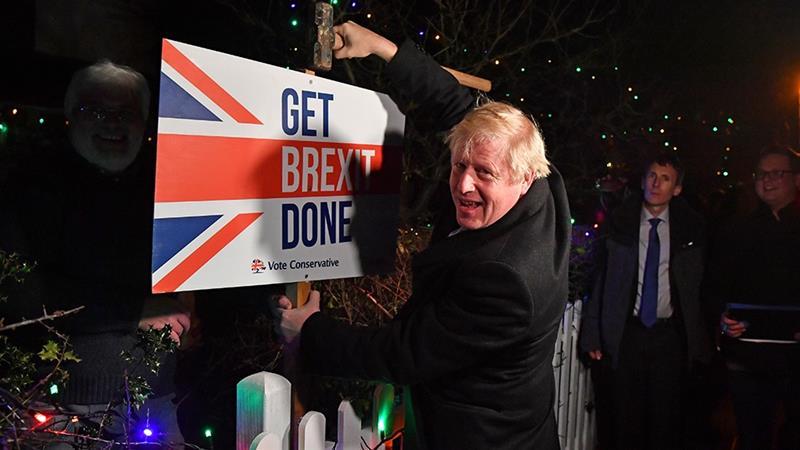 UK celebrates the Brexit
