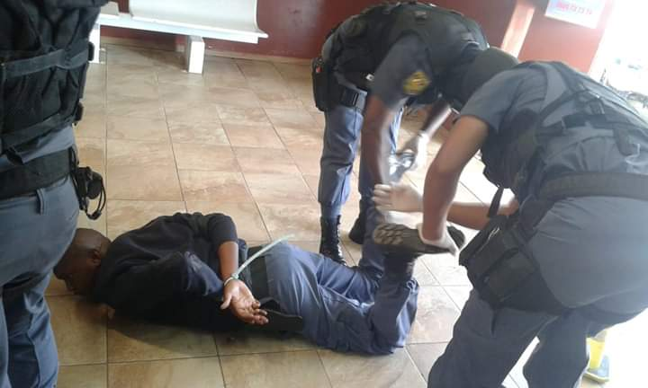 Police in South Africa arrest police officers for violating lock down regulations