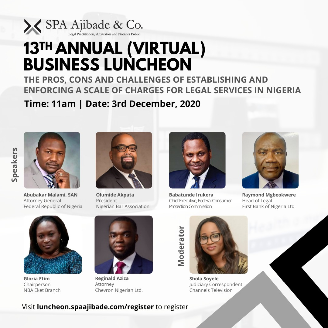Registration Commences for 13th Annual Business Luncheon of S. P. A. Ajibade & Co