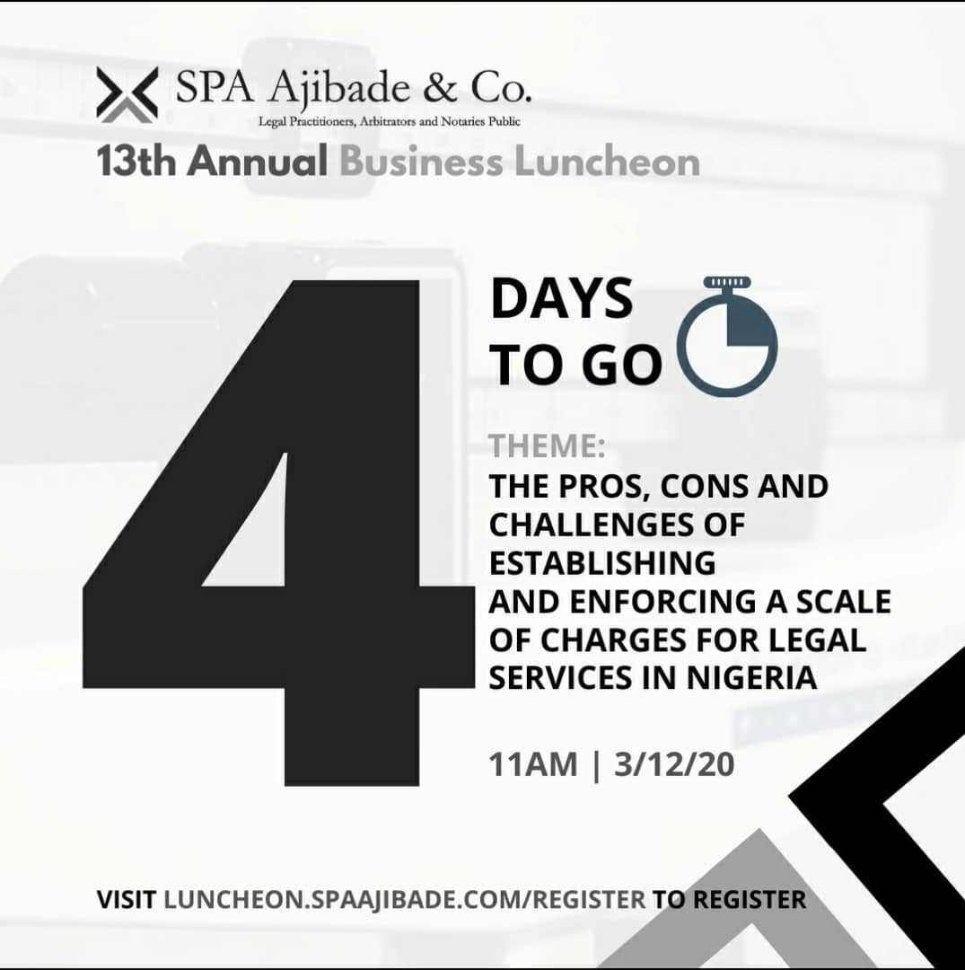 4 Days To Go – The SPA Ajibade & Co. Annual Business Luncheon