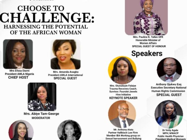 Women Affairs Minister Pauline Tallen, Anthony Atata,Toyin Falaiye,Felicia Onibon,Ene Obi, Anthony Ojukwu,Vetty Agala for AWLA webinar today