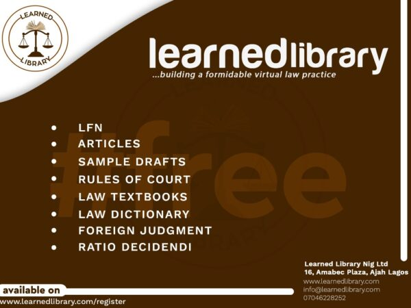 FREE: Learned Library introduces Learned Library Electronic Law Report