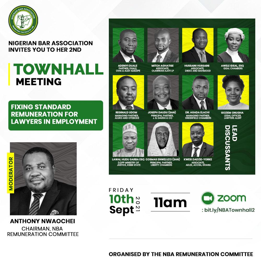Day 2, NBA Remuneration Committee Townhall Meeting Rescheduled to 10/09/2021